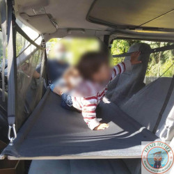 lit enfant VW T4 140 cm avec 2 filets de sécurités