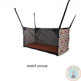 lit bébé pour fourgon, van ou camping-car motif circus